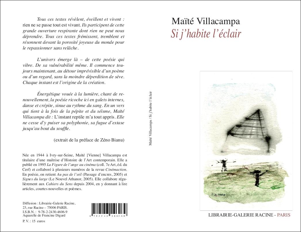 VILLACAMPA Maïté - Si j'habite l'éclair