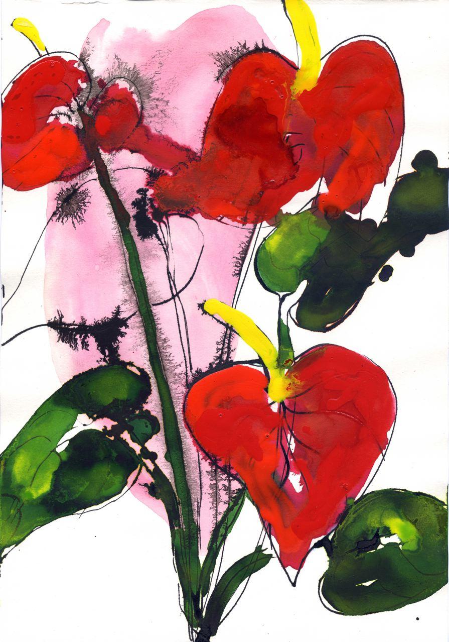 Lionel Lathuille-Anthurium1-Encre-21x29,7cm-2008