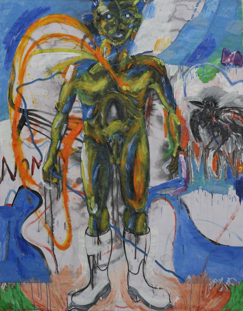 Lionel Lathuille-NOMON 1-Peinture-papier-194x152cm-2015