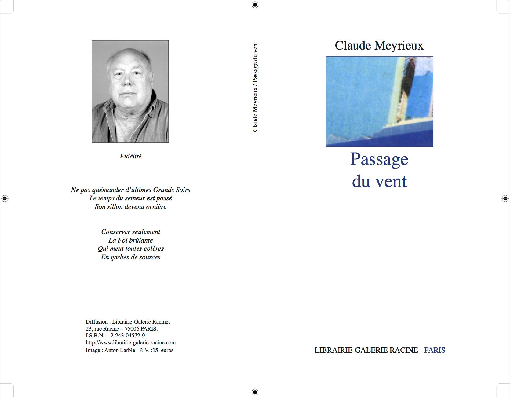 couv Claude Meyrieux - Couverture