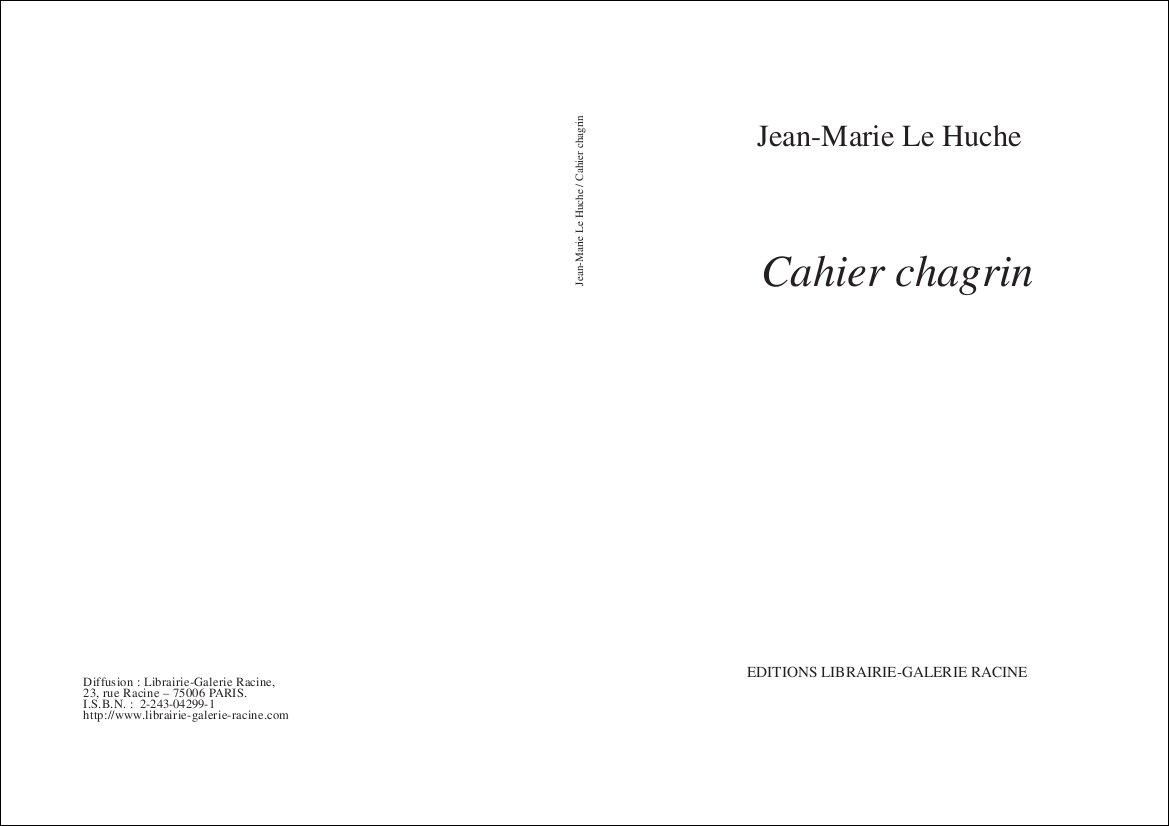 LE HUCHE Cahier chagrin