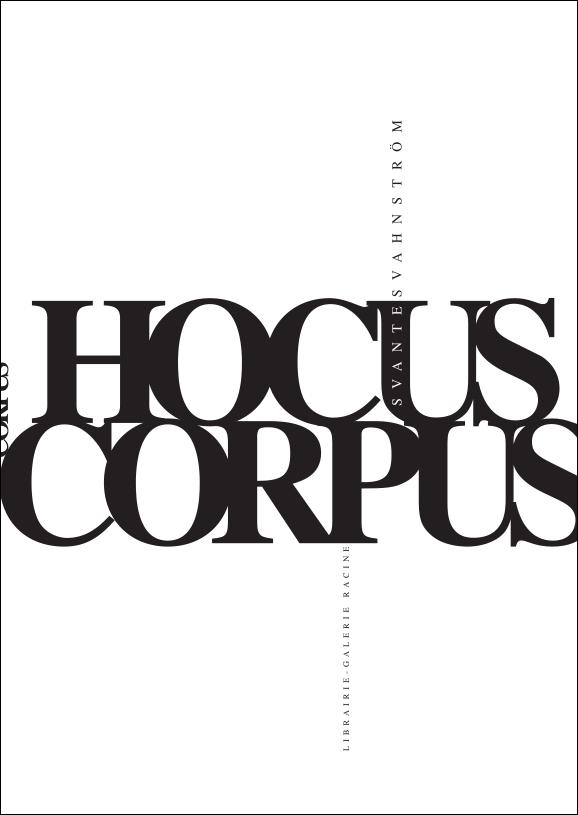SVANTE SVANSTRÖM - Hocus Corpus