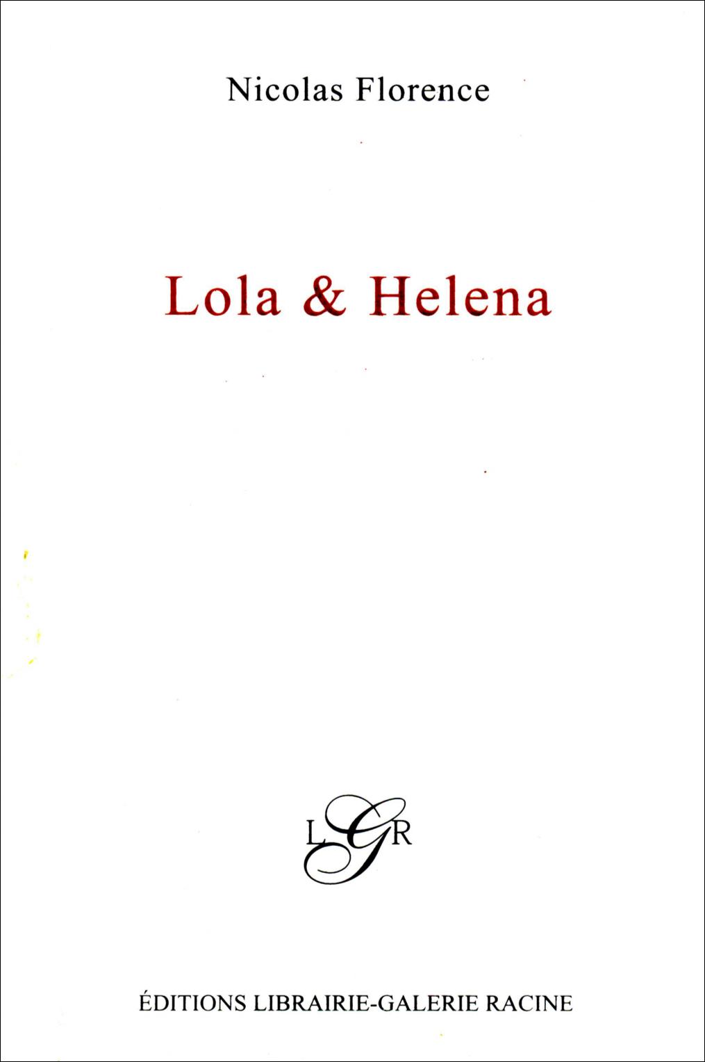 Nicolas Florence - Lola & Elena