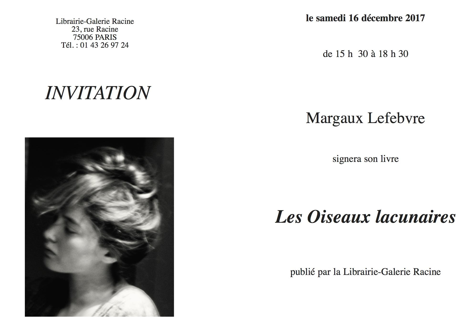 Signature Margaux LEFEBVRE - Les Oiseaux lacunaires