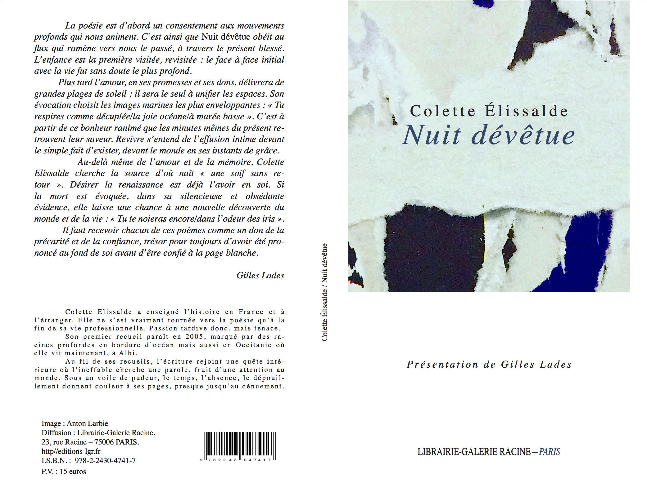 Colette ELISSALDE - Nuit dévêtue